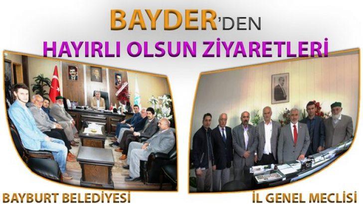 BAYDER'den Bayburt'un Yeni Başkanlarına Hayırlı Olsun Ziyareti