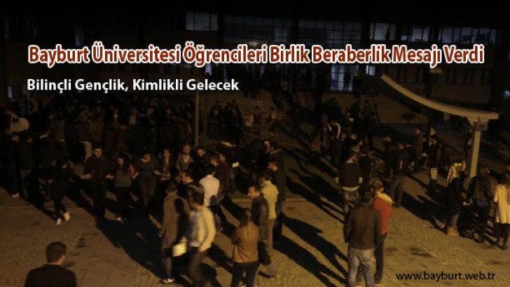 Bayburt Üniversitesi Öğrencileri Birlik Beraberlik Mesajı Verdi
