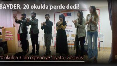 20 okulda 3 bin öğrenciye 'Tiyatro Gösterisi'