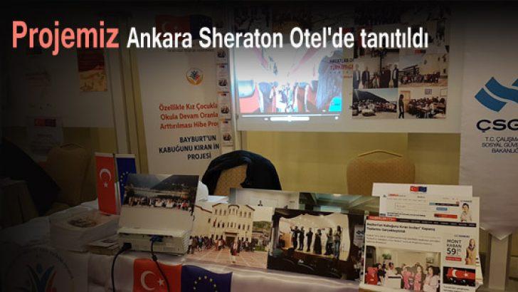 Projemiz, Ankara Sheraton Otel'de tanıtıldı