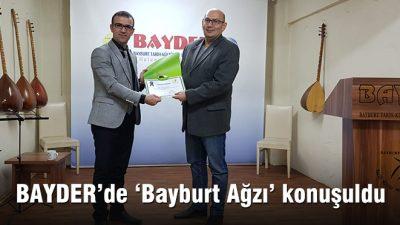 BAYDER'de 'Bayburt Ağzı' konuşuldu