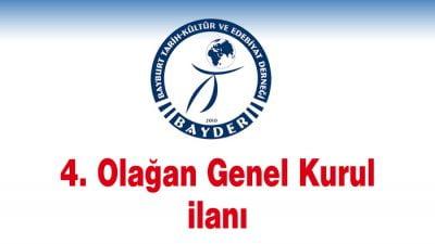 BAYDER '4. Olağan Genel Kurul' ilanı