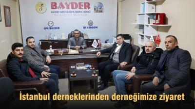 İstanbul Bayburt derneklerinden, BAYDER'e ziyaret
